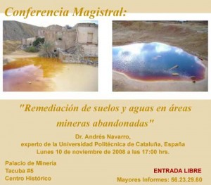 Cartel: Conferencia remediación de suelos
